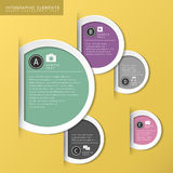 Abstract circle tag infographics Stock Image