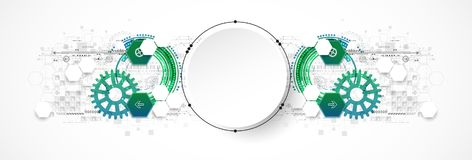 Abstract circle technology concept. Circuit board, high computer Stock Photos