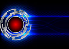 Abstract circle technology and hex background Stock Photos