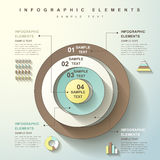 Abstract circle tower infographics Stock Photography