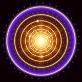 Abstract circle tunnel background Royalty Free Stock Images