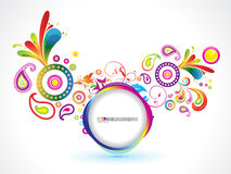 Abstract circle wave exploration background Stock Photos