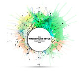 Abstract circle white banner with place for text Royalty Free Stock Image