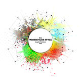 Abstract circle white banner with place for text Royalty Free Stock Photo