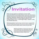 Abstract Circled Invitation. Vector Illustration Royalty Free Stock Photos