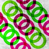 Abstract circles. On grunge background Royalty Free Stock Images