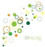 Abstract circles. Abstract green, orange and yellow circles Stock Photos