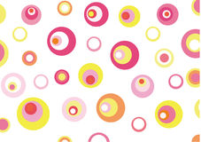 Abstract circles background stock illustration