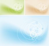Abstract circles background. Abstract circles on gradient background. Full editable vector illustration Stock Image