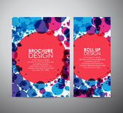 Abstract circles background brochure business design template or roll up. Royalty Free Stock Images