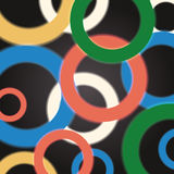 Abstract circles background with colorful geometric glowing rings. Vector. Illustration Stock Photo