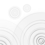 Abstract circles background. Several circles arranged at the corners of an asymmetrical manner. The circles are different sizes of the same color and overlap Stock Image