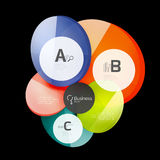 Abstract circles on black. Glass elements banner Royalty Free Stock Image
