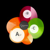 Abstract circles on black. Glass elements banner Royalty Free Stock Photo