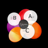 Abstract circles on black. Glass elements banner Royalty Free Stock Images