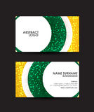 Abstract circles business card vector design template. Royalty Free Stock Photo