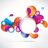 Abstract circles colored design Royalty Free Stock Photography
