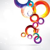 Abstract circles colored design Stock Photos