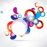Abstract circles colored design Royalty Free Stock Photo