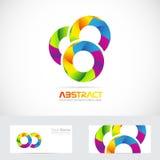 Abstract circles colors logo Royalty Free Stock Images