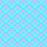 Abstract circles flowers vibrant seamless gradient pink and blue pattern. For craft, wrapping, fabric, textile royalty free illustration