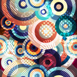 Abstract circles geometric pattern Royalty Free Stock Image