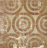Abstract circles on grunge background Stock Photo