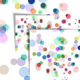 Abstract circles illustration, colorful digital Royalty Free Stock Images