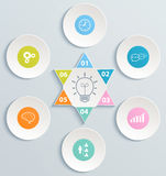 Abstract circles infographic. Modern template pres Royalty Free Stock Photo