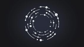 Abstract circles and lines rotate geometrical form animation royalty free illustration