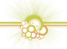 Abstract circles with lines. Vector Royalty Free Stock Photography