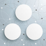 Abstract 3 Circles Networks Stock Photography