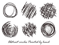 Abstract circles Painted by hand Royalty Free Stock Image