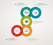 Abstract Circles Parts Infographic With Step By Step Structure. Template Diagrams Stock Images