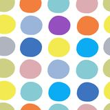 Abstract circles pattern seamless for your design. Vector illustration Stock Image