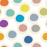 Abstract circles pattern seamless for your design. Vector illustration Stock Images