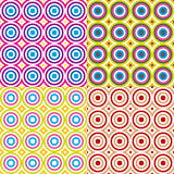Abstract circles pattern set. Vector. Stock Photos