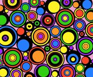 Abstract circles retro Royalty Free Stock Image