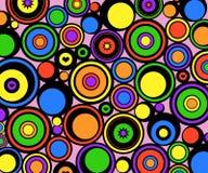 abstract circles retro Στοκ εικόνα με δικαίωμα ελεύθερης χρήσης