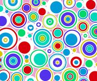 abstract circles retro ελεύθερη απεικόνιση δικαιώματος
