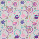 Abstract circles retro seamless pattern background Royalty Free Stock Photo
