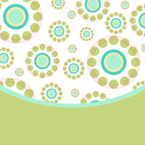 Abstract circles retro style background with place for text Stock Photos