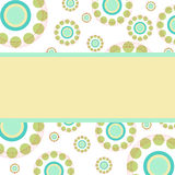 Abstract circles retro style background with place for text vector illustration