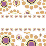 Abstract circles retro style background with place for text Royalty Free Stock Photo