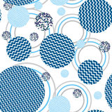 Abstract circles seamless pattern Royalty Free Stock Photography
