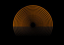 Abstract circles on the stage. Royalty Free Stock Photography