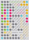 Abstract circles vector background Royalty Free Stock Photo