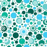 Abstract circles vector seamless pattern. Texture for wallpapers. Pattern fills, web page backgrounds Stock Photos