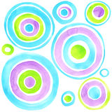 Abstract circles watercolor background. Abstract art. Royalty Free Stock Photography