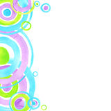 Abstract circles watercolor background. Abstract art. Stock Photos